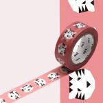 Masking Tape Papier tigre rose 15 mm x 7 m