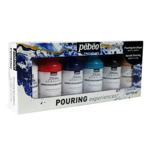 Peintures acryliques Pouring Expérience 6 x 118 ml