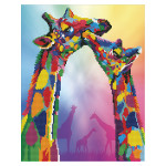 Broderie Diamant kit  intermédiaire Girafes
