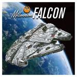 Broderie Diamant kit  intermediaire Star Wars vaisseau Falcon Millenium