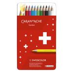 Crayon de couleur Swisscolor Boîte métal 12 pièces